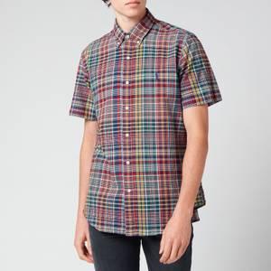 Polo Ralph Lauren Men's Custom Slim Fit Plaid Cotton Shirt - Red/Navy Multi