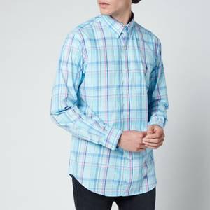 Polo Ralph Lauren Men's Custom Slim Fit Plaid Poplin Shirt - Pink/Blue Multi