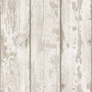 White Washed Wood Artistick Wallpaper
