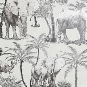 Elephant Grove Grey Artistick Wallpaper
