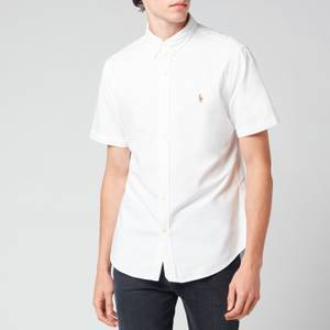Polo Ralph Lauren Men's Slim Fit Classic Oxford Short Sleeve Shirt - BSR White