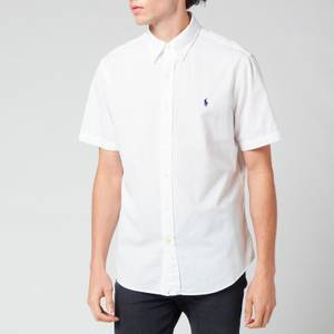 Polo Ralph Lauren Men's Custom Fit Seersucker Shirt - White