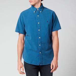 Polo Ralph Lauren Men's Custom Fit Seersucker Shirt - Indigo Blue