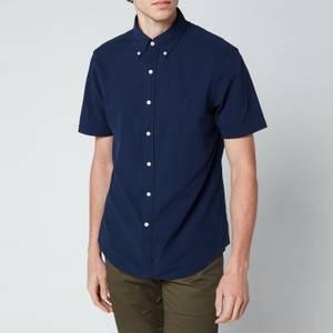 Polo Ralph Lauren Men's Slim Fit Seersucker Shirt - Astoria Navy