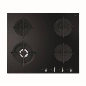 CDA HVG671BL 4 Burner Gas On Glass Hob - 60cm - Black
