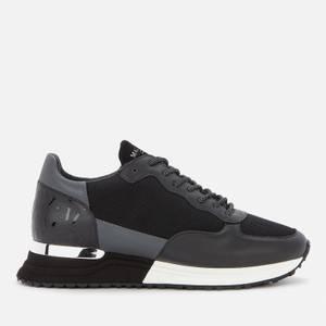MALLET Men's Popham Running Style Trainers - Black Reflect