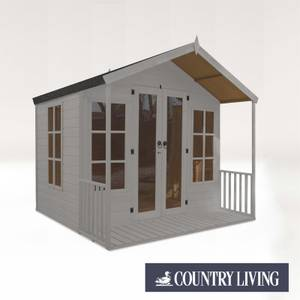 Country Living Tuxford 8 x 8 Premium Traditional Summerhouse Painted + Installation - Thorpe Towers
