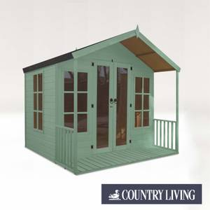 Country Living Tuxford 8 x 8 Premium Traditional Summerhouse Painted + Installation - Aurora Green