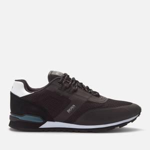 BOSS Men's Parkour Runn Mesh Running Style Trainers - Black