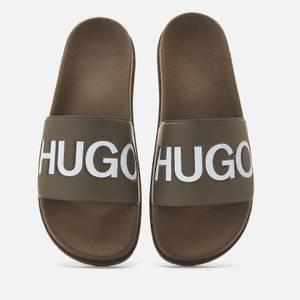 HUGO Men's Match Slide Sandals - Green