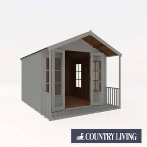 Country Living Tuxford 10 x 8 Premium Traditional Summerhouse Painted + Installation - Thorpe Towers