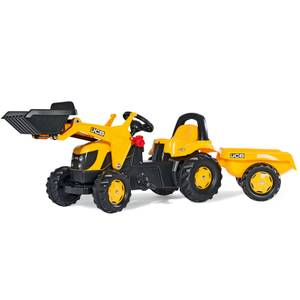 JCB Tractor with Frontloader and Trailer