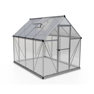 Palram Hybrid 6x8ft Greenhouse - Silver
