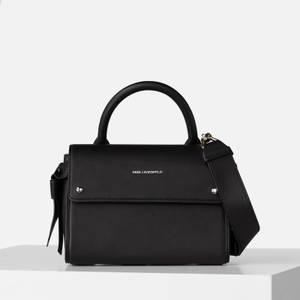 KARL LAGERFELD Women's K/Ikon Mini Top Handle - Black