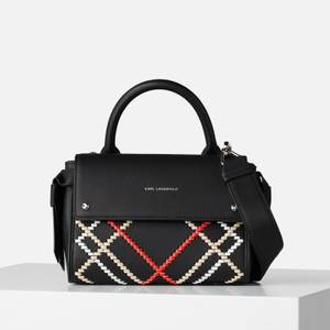 KARL LAGERFELD Women's K/Ikon Whipstitch Mini Top Handle Bag - Black/Multi
