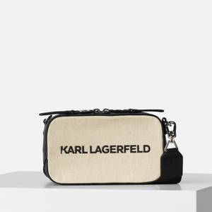 KARL LAGERFELD Women's K/Skuare Camera Bag Canvas - Natural
