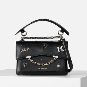 KARL LAGERFELD Women's K/Karl Seven Pins Shoulder Bag - Black