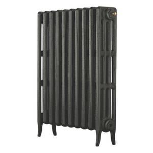 Arroll 4 Column Cast Iron Radiator 634 X 760 - Pewter