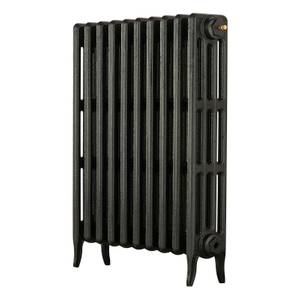 Arroll 4 Column Cast Iron Radiator 634 X 760 - Black
