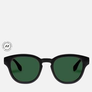 Le Specs Women's Grass Band Round Sunglasses - Black Grass