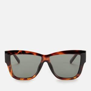 Le Specs Women's Total Eclipse Square Sunglasses - Tort