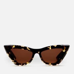 Bottega Veneta Women's Oversized Cat Eye Tortoiseshell Acetate Sunglasses - Havana/Brown