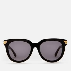 Bottega Veneta Women's Round Acetate Sunglasses - Black/Grey