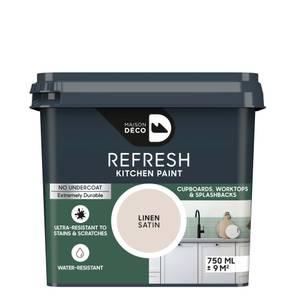 Maison Deco Refresh Kitchen Cupboards, Worktops & Splashbacks Paint Linen 750ml