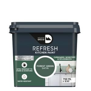 Maison Deco Refresh Kitchen Cupboards, Worktops & Splashbacks Paint Forest Green 750ml