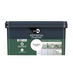 Maison Deco Refresh Kitchen Cupboards, Worktops & Splashbacks Paint Cool White 2L