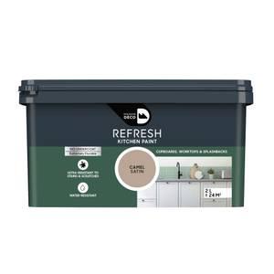 Maison Deco Refresh Kitchen Cupboards, Worktops & Splashbacks Paint Camel 2L