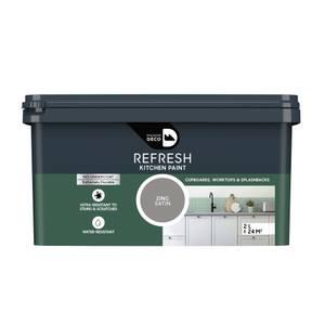 Maison Deco Refresh Kitchen Cupboards, Worktops & Splashbacks Paint Zinc 2L