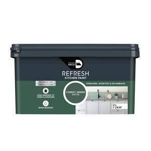 Maison Deco Refresh Kitchen Cupboards, Worktops & Splashbacks Paint Forest Green 2L