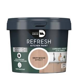 Maison Deco Refresh Kitchen Cupboards, Worktops & Splashbacks Paint Driftwood Effect 375Ml