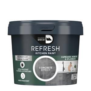 Maison Deco Refresh Kitchen Cupboards, Worktops & Splashbacks Paint Concrete Effect 375ml
