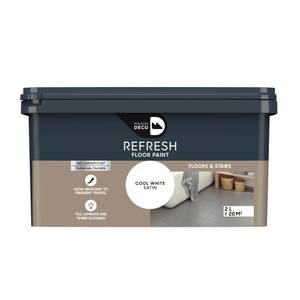 Maison Deco Refresh Floor & Stairs Paint Cool White 2L