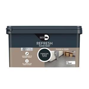 Maison Deco Refresh Floor & Stairs Paint Charcoal Black 2L