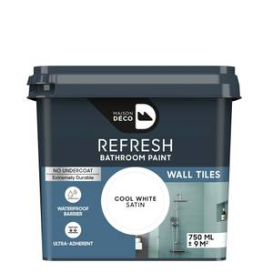 Maison Deco Refresh Bathroom Wall Tile Paint Cool White 750ml