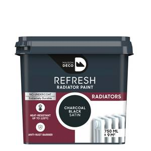 Maison Deco Refresh Radiator Paint Charcoal Black 750ml