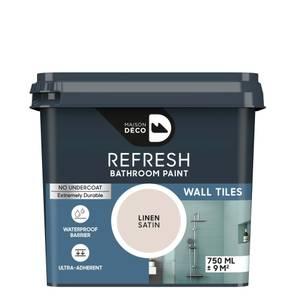 Maison Deco Refresh Bathroom Wall Tile Paint Linen 750ml