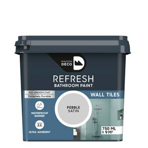 Maison Deco Refresh Bathroom Wall Tile Paint Pebble 750ml