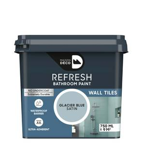 Maison Deco Refresh Bathroom Wall Tile Paint Glacier Blue 750ml