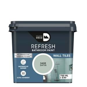Maison Deco Refresh Bathroom Wall Tile Paint Sage 750ml