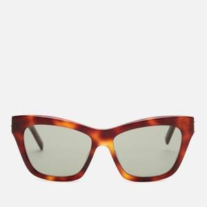 Saint Laurent Women's Sl M79 Cat Eye Sunglasses - Havana/Green