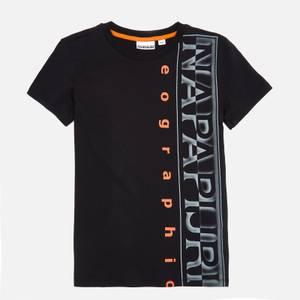 Napapijri Boys' Logo T-Shirt - Black