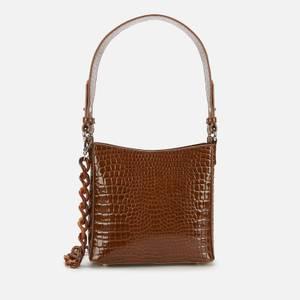 HVISK Women's Amble Croco Small Shoulder Bag - Brown