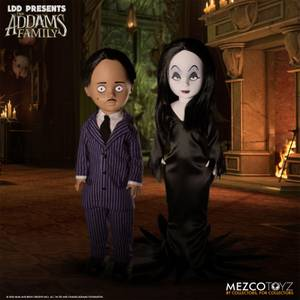 Mezco LDD Presents Addams Family Gomez and Morticia Dolls 2-Pack