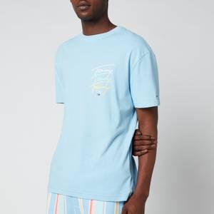 Tommy Jeans Men's Repeat Script T-Shirt - Light Powdery Blue