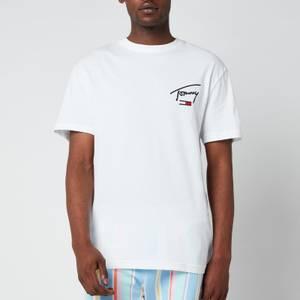 Tommy Jeans Men's Collegiate Back Logo T-Shirt - White