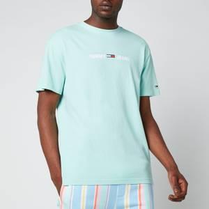 Tommy Jeans Men's Linear Logo T-Shirt - Aqua Coast